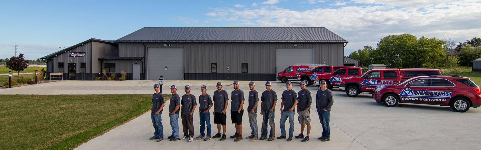 Altitude Roofing Windows & Remodeling Team at New Holstein Wisconsin showroom